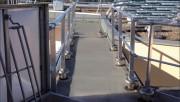 Garde corps sur dalle - Matériau : aluminium