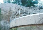 Garde corps toiture - Garde corps pour toiture en aluminium 6060 – Droit, incliné ou cintré