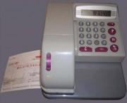 Gaufreuse électronique protecteur de chèques - Nombre de devises disponibles : 16