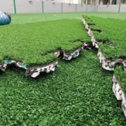 Gazon synthétique et sous-couche intégrée - Dalle de 1m² - HIC1300mm - gazon synthétique - couleur au choix - sous-couche recyclé et recyclable