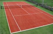 Gazon synthétique pour rénovation terrain tennis - Hauteur de la fibre : 20 mm (+/-10%)
