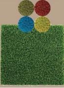 Gazon synthétique terrain de sport en couleurs - Couleurs : vert, bleu, rouge ou jaune  -  Fibre PE monofibre frisé