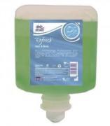 Gel douche et shampoing - 6 Recharges de gel douche 1L -  Gel corps et cheveux