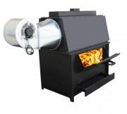 Générateur d'air chaud à combustible bois - Bois – Carton – Copeaux