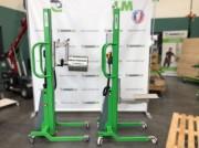 Gerbeur électrique pour levage bobine 80/600 kg - Chariot avec outils de préhension sur mesure