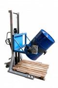 Gerbeur retourneur manuel de fûts 350 Kg - Charge utile (Kg) : 350
