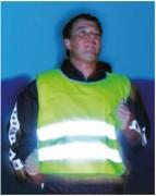 Gilet de sécurité auto-réfléchissant sport - Dimensions  (L x l) en cm :51 x  51 -  55  x  53 - 59  x  57 -  64 x 60 - 67,5 x 66