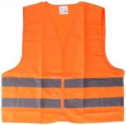 Gilet de sécurité XL - 2 Bande réfléchissantes - Coloris : Jaune / Orange