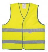 Gilet de signalisation 100 % polyester - Bandes rétro réfléchissantes - Tailles : M à XXL