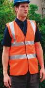 Gilet haute visibilité orange fluo - Gilet conforme à la norme EN471 classe 2