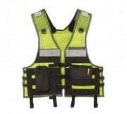 Gilet multi-poches fluorescent - Avec système modulaire pour fixation des outils