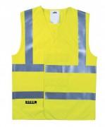 Gilet poly-coton fluorescent - Tailles : L -  XL