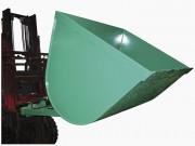 Godet hydraulique pour chariot élévateur - 2 vérins hydrauliques - Volumes : 0,9 & 1,2 m3