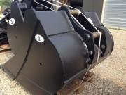 Godet rétro à axe encastré pour pelle hydraulique 16 à 19 tonnes - Hauteur de godet réduite de 15 à 20%
