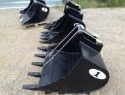 Godet rétro pour mini pelle chantier 2 à 3 tonnes - Godets standard ou renforcés HD avec fond en Hardox