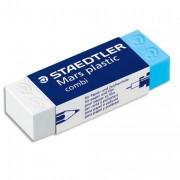 Gomme plastique Mars Combi de, un coté blanc pour le crayon, un coté bleu pour l'encre 526508 - STAEDTLER