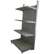 Gondole de magasin occasion - 2 modèles à double face 1M - métallique - 2 m de hauteur