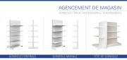 Gondole étagère de magasins - Différentes Hauteurs : de 1m à 3m50 - Profondeurs possibles : de 20 cm à 80 cm