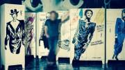Graff sur vestiaire industriel - Original et chic