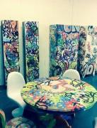 Graffiti sur table - Mobilier artistique et original