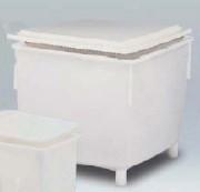 Grand bac classique 600 litres - Usage : Industriel - Dimensions extérieures (L x l x H) : 1200 x 920 x 810 mm