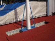 Grand rail encastré pour sautoir - Dimensions : 6m40