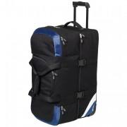 Grand sac de voyage personnalisé - Sac de voyage en polyester 600D - 3058 gr - Noir / bleu