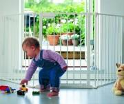 Grande barrière de sécurité enfants - Convient aux ouvertures supérieures à 90 cm