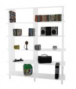 Grande bibliothèque plexi 6 étages - Plexiglas épaisseur 1 cm - 6 étages espacés de 33 cm - Hauteur 183 cm