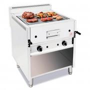 Grill à pierre de lave professionnel - Débit calorifique : 17.5 - 26 Kw-Dim ( L x P x H ) :1200 x 700 x 850  mm