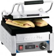 Grill panini professionnel inox - Rainurée/ rainurée ou  lisse/lisse