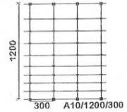 Grillage en fil pour la protection contre les sangliers d'une hauteur de 1200 mm - Rouleau de 100 m - Hauteur : 1200 mm
