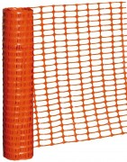 Grillage souple orange chantier TP - Rouleau de grillage plastique 50X1M