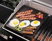 Grille cuisson barbecue professionnel - Grille réversible en fonte émaillée
