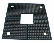 Grille d'arbre de forme carrée - Dimensions extérieures : 1400 x 1400 mm