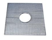 Grille d'arbre en acier galvanisé - Dimensions (L x l) mm : De 500 x 500 à 1200 x 1200