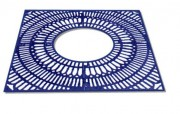 Grille d'arbre en fonte de forme carré - Dimensions extérieurs : de 1200 x 1200 à 1500 x 1500 mm