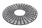 Grille d'arbre en fonte de forme ronde - Diamètre extérieur : 1500 mm