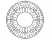 Grille d'arbre en fonte décorée - Dimension extérieur : 1500 mm