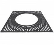 Grille d'arbre en fonte ductile noire - Dimensions extérieurs : 1480 x 1480 - 1500 x 1500 mm
