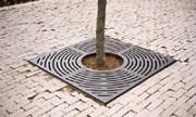 Grille d'arbre Presto Carrée - Possibilité de 4 percements diamètre 100mm