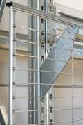 Grille protection anti-chute pour rayonnage - Trois dimensions de maille sont disponibles : 38 x 97 ; 18 x 97 ; 18 x 25 mm