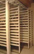 Grilles à Tableaux coulissantes suspendues au plafond - Rayonnage mobile musée