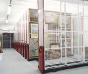 Grilles à tableaux sur Rayonnage mobile - Rayonnage mobile musée