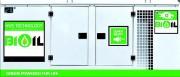 Groupe électrogène écologique 180 kVA - Puissance continu : 180 kVA - Fonctionne à l'huile végétale