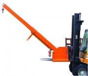 Grue à crochet réglable en hauteur - Charge de 3000 kg - Bras extensible de 146 à 370 cm