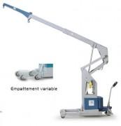Grue à empattement variable hydraulique - Charge maxi. 2000 kg