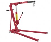 Grue d'atelier pliable avec châssis bas - Longueur du levier de levage : 800 mm