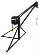 Grue de terrasse complète 500 Kg - Charge utile : 500 kg - Vitesse de levage : 22 m/minute - Grue monophasé ou triphasé