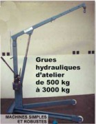 Grue hydrauliques d'atelier - Charge maxi. 3000 kg